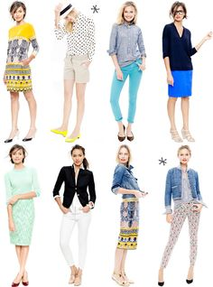 j.crew inspiration - i want all these looks for italy!