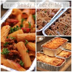 Oven Ready Freezer Meals