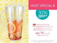Host a Steeped Tea party and receive off*: NEW Iced Tea Infusion Jug Sami Sweetheart Fruit Tea Berry Mania Fruit Tea Magical Mango Fruit Tea Mango Fruit, Fruit Tea, Tea Recipes, Cocktail Recipes, Specials Today, Buy Tea, Tea Infuser, Loose Leaf Tea, Tea Accessories