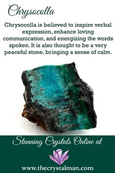 Loving Communication-Verbal Expression-Peace Shop online 24/7 at The Crystal Man! Crystal Guide, Crystal Magic, Crystal Healing Stones, Stones And Crystals, Gem Stones, Wiccan, Magick, Witchcraft, Pagan