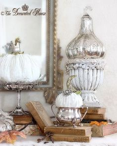 The Decorated House:~ White Pumpkins - Soft