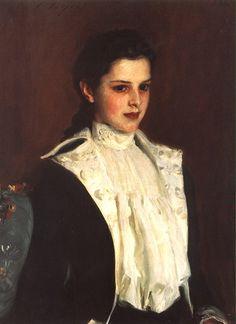 Alice Vanderbilt Shepard (Later Mrs. Dave Hennen Morris 1875-1950) John Singer Sargent -- American painter 1888 Amon Carter Museum, Fort Worth, Texas Oil on canvas 76.52 x 55.88 cm (30 1/8 x 22 in.) 1999.20 Jpg: The Pragmatic Romanticist