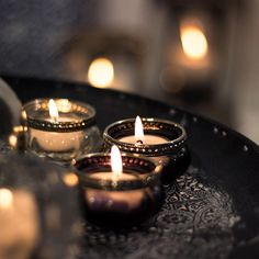 Kerzenschein ♥ #Teelichtglas #Teelicht #Kerze