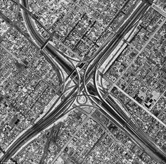 Oblivion reveals the megalopolis of Los Angeles in tonally reversed black-and white images