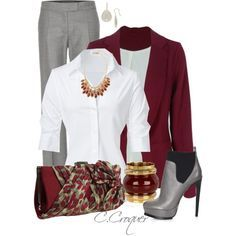 """Grey Pants"" by ccroquer on Polyvore"