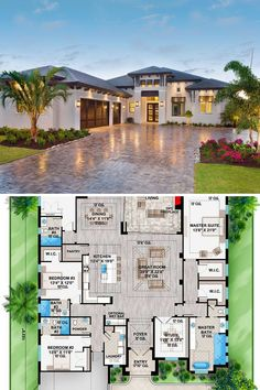 House Plans Mansion, Sims House Plans, Beach House Plans, House Plans One Story, New House Plans, Dream House Plans, One Story Houses, House Layout Plans, Southern House Plans