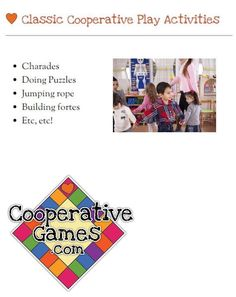 #cooperative #games #learning #play #children #activities #classroom #teachers More games and ideas at www.cooperativegames.com