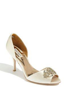 Wedding Shoes: Badgley Mischka 'Salsa' Pump available at Peep Toe Pumps, Designer Wedding Shoes, Badgley Mischka Shoes, Queen, Dream Shoes, Formal Shoes, Bridal Shoes, Shoe Boots, Heels