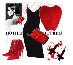 """HOT RED"" by oksana-chmel on Polyvore featuring мода, Michael Kors, Yves Saint Laurent, Chicnova Fashion и Oscar de la Renta"