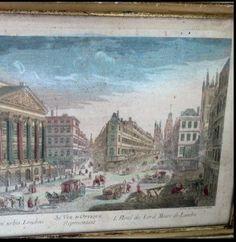 FleaingFrance Brocante Society 1800's Gravure Vue d'Optique - Hand Colored  fleaingfrance.bigcartel