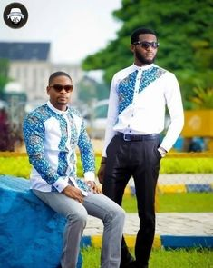 Check Out These Kente Vs Ankara Styles - Sisi Couture African Shirts For Men, African Dresses Men, African Attire For Men, African Clothing For Men, African Wear, African Women, African Fashion Designers, African Fashion Ankara, African Print Fashion