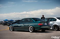 Boston green BMW e36 coupe on OEM BMW Styling 5 (BBS RC) wheels