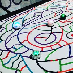 Coding and Programming with Ozobot robots that follow coded lines  and colors #OzoNation #CSforAll #KidsCanCode