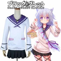Black Bullet MIDORI FUSE Uniform Dress Cosplay Costume With hat Outfit set