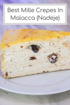 Nadeje Cake House is well known for their mille crepes in Malacca. Although Nadeje has branches in both Melaka and Wilayah, they started their first shop at Plaza Mahkota (Melaka). Mille Crepe, Types Of Cakes, Love Cake, Crepes, Birthday Celebration, Branches, Deserts, Birthday Cake, Posts