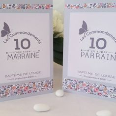 kit cadeaux parrain marraine thème liberty personnalisé Dyi Invitations, Christening Gowns, Liberty Print, Baby On The Way, Baby Party, French Lace, Family Kids, Baby Shower Themes, Communion