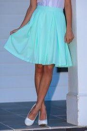 EVERLY:Brighter & Better Skirt-Mint