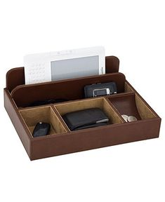 Reed & Barton Desk Organizer, James Man's Valet Chest - Collections - for the home - Macy's