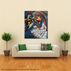 FRAMED!!! ABSTRACT OIL PAINTING THE JESTERS TEARS HANDPAINTED ON CANVAS