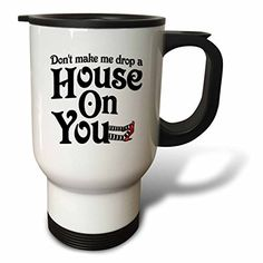 YuieKim DonT Make Me Drop A House On You Stainless Steel 14oz Travel Mug Coffee Mug >>> You can find more details by visiting the image link. (This is an affiliate link)