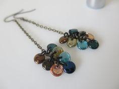 Boho Long Chain Earrings Dangle Multicoloured  by CeeCeeJewellery, $22.00