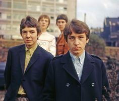 Small Faces on a bomb site in Ludgate Hill, London, in September 1965 Mod Music, Gerry And The Pacemakers, Ronnie Lane, Steve Marriott, Spencer Davis, Seersucker Pants, Petula Clark, Dusty Springfield, Mod Look