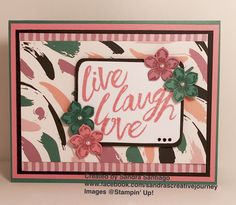 Live Love Laugh Stampin' Up! Playful Palette paper stack, Playful Palette washi tape, Layering Love stamp set and Petite Petals stamp set & punch