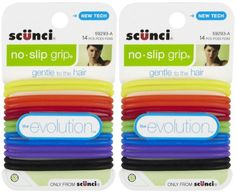 Scunci No Slip Grip Evolution Gel Elastic Hair Ties 14 pk 2 pk ** Click on the image for additional details.(This is an Amazon affiliate link and I receive a commission for the sales) #HairElasticsandTies