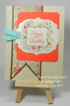 Like the pennant cut strips showing up a lot,  by Cindy Sheets on Dawn Griffith's blog