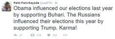 Karma Caught Up With Obama Fani Kayode Says