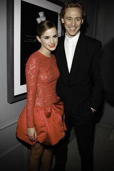 Emma Watson and Hiddles. PLEASE GET MARRIED AND MAKE MORE CLASSY PEOPLE!!!!!!!!