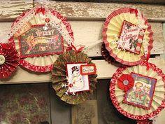 Christmas Pinwheel Medallion Tutorial by Lisa Zappa using Merry Chrismas Creative Scraps by Crafty Secrets