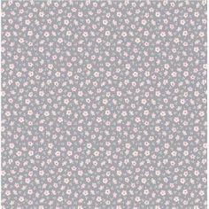 """Martine Blue Grey"" Scandi Floral Fabric Fat Quarter by Tilda"