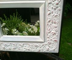 Shabby Chic Metal Framed Mirror by TheSandShop on Etsy, $55.00