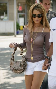 cheryl cole white shorts
