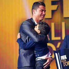 """""""All of these, for you' Cristiano Ronaldo with son, Junior at the Ballon d'Or awards ceremony"""