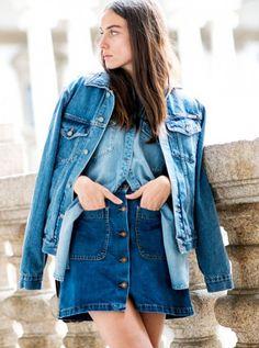 Invista no jeans vezes 3 e tenha um look super cool.