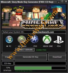 Minecraft Story Mode Key Generator (Free CD Key)