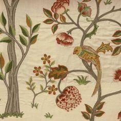 William Morris Fabric | Fabrics William Morris & Co Archive Embroideries Kelmscott Tree Fabric ...
