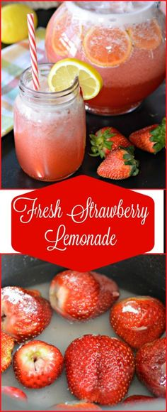 This Strawberry lemonade is to die for! It is perfect for those hot sunny days when you just want to relax in the shade with a cold beverage in your hand. Food Recipes For Dinner, Mexican Food Recipes, Family Recipes, Appetizer Recipes, Drink Recipes, Foods For A Cold, Cold Food, Cold Drinks, Non Alcoholic Drinks