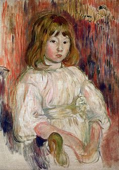 Berthe Morisot - The little Marcelle, 1895 (Musee Marmottan Monet - Paris France) at Museo Thyssen-Bornemisza Madrid Spain