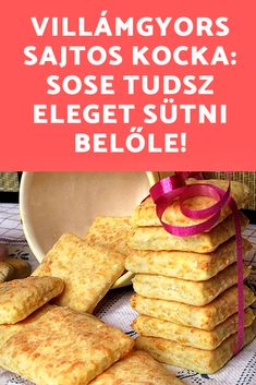New Recipes, Sweet Recipes, Cooking Recipes, Good Food, Yummy Food, Salty Snacks, Hungarian Recipes, Sweet And Salty, Diy Food