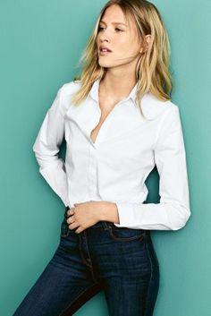 Buy White Formal Shirt from the Next UK online shop Capsule Wardrobe Work, Work Uniforms, Formal Shirts, Work Shirts, Elegant, Blouse, Lace, Design, Stuff To Buy
