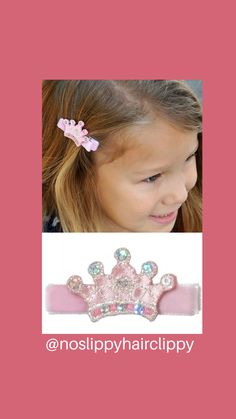 Sparkle away with our princess crown no-slip hair clip!🤩 #noslippyhairclippy #hairclippy #princess #crown #handmade #nosliphairclip #girlshairclips #hairbows #babybows #toddlerlife #momlife #carsoncity #madeintheusa Toddler Hair Clips, Baby Hair Clips, Toddler Headbands, Toddler Hair Accessories, Metal Hair Clips, Crown Hairstyles, 1st Birthday Girls, Baby Bows, Little Princess