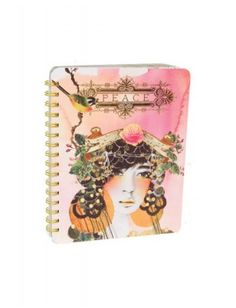 Papaya Art Spiral Notebook - Peace