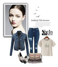 """""""SheIn 6/II"""" by nermina-okanovic ❤ liked on Polyvore featuring LE3NO, Topshop and shein"""
