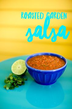 This salsa is made with vegetables you likely have growing in your own garden. Roasting them until they're slightly charred helps bring out their flavors.