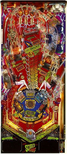 Scared Stiff pinball playfield