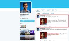 Hackearon la cuenta de twitter de Sundar Pichai CEO de Google   El CEO de Google Sundar Pichai es la nueva víctima de los hackers de cuentas de redes sociales y el grupo que se ha responsabilizado del hecho amenaza con hackear a más ejecutivos de grandes empresas.  El domingo 26 de junio un grupo de hackers que se hacen llamar OurMine se tomó brevemente la cuenta de Pichai en Quora un sitio web de preguntas y respuestas. Solo estamos poniendo a prueba tu seguridad escribieron los hackers con…