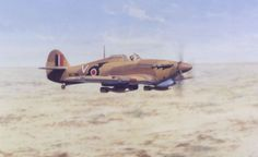 Hawker Hurricane of in North Africa Navy Aircraft, Ww2 Aircraft, Aircraft Photos, Military Aircraft, Air Fighter, Fighter Jets, Afrika Corps, Hawker Hurricane, Supermarine Spitfire